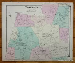 100 Taghkanic New York NY Antique Maps And Charts Original Vintage Rare