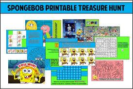 Spongebob Party Games Printable Treasure Hunt