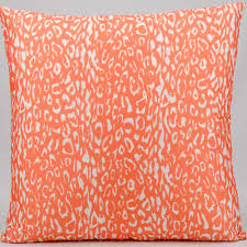 Turquoise And Orange Decorative Pillows