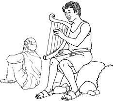David Playing His Harp Bible Coloring PagesColoring