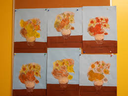 WHATS HAPPENING IN THE ART ROOM 2nd GRADEVan Gogh Sunflowers Coloriage Tournesol Maternelle