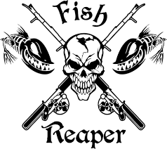 Fish Reaper Skull Fishing Rod Reel Car Boat Truck Window Vinyl Decal ... 2 Fish Skeleton Decals Car Sticker Fishing Boat Canoe Kayak Rodfather Funny Vancar Jdm Vw Dub Vag Euro Vinyl Decal Tancredy Go Stickers And Bumper Bass Truck Wall Window 1pc High Quality 15179cm Id Rather Be Fly Angler Vinyl Decal Fly Fishing Sticker Ice Hell When Freezes Over Ill Visit To Buy 14684cm Is Good Bruce Pinterest 2018 Styling Daiwa Brand And For Hooked On Outdoor Life Camping