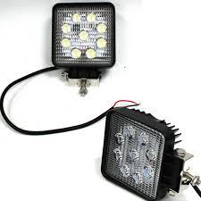 100 Led Work Lights For Trucks Lot Two Mini 27W 9 LED Spot Beam Offroad Driving Fog
