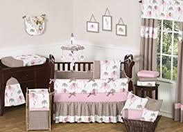 Amazon Sweet Jojo Designs 9 Piece Modern Pink and Brown Mod