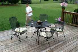Vintage Wrought Iron Porch Furniture by Complimenting Patio With Wrought Iron Patio Furniture