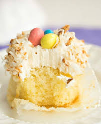 Coconut Cupcakes With Toasted Frosting
