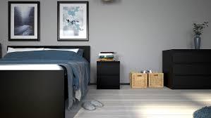 nada nachttisch mit schubladen matt schwarz nachtschrank kommode schlafzimmer