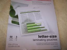 fice DEPOT 50 Laminating Pouches Letter 3 Mil 9 X 11 5