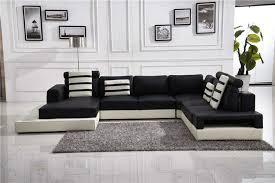 Living Room Decorating Ideas Black Leather Sofa by Furniture Wonderful U Shape Antique White Leather Sofa Living