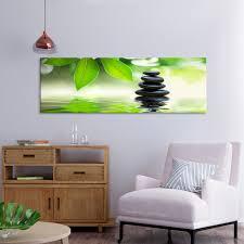 möbel wohnen vlies leinwand bilder bambus asian steine