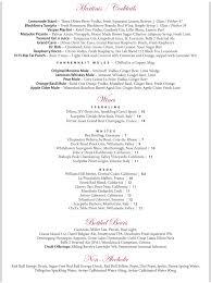 Wine By The Glass Menu Fahrenheit Restaurant Cleveland