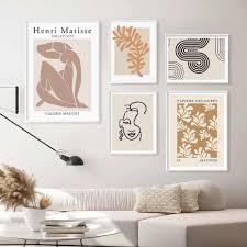 abstrakte henri matisse poster gesicht linie silhouette