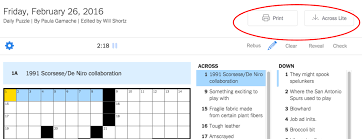 New York Times Crossword – Help