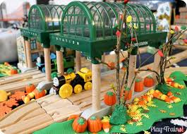 Thomas The Train Pumpkin Designs by Quick And Easy Halloween Train Layout Ideas