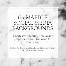 Marble Social Media Kit Social Media Posts Instagram Etsy