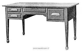 caisse de bureau bureau à caisse en bois massif et pieds épée en gaine meuble