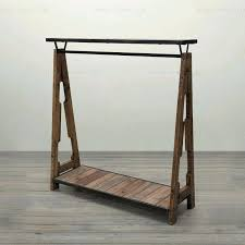 Wooden Clothing Rack Wood To Do The Old Vintage Display For Modern Property