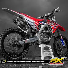 kit deco crf 250 kit déco blackbird réplica team honda hrc 2016 fx motors