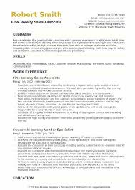 Sample Resume Sales Associate Jewelry Store Fine Example