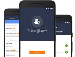 Anti theft service of AVG Antivirus for Android