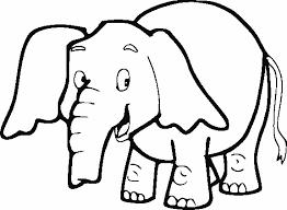 Cartoon Preschool Coloring Pages Elephant