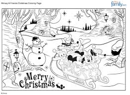 Merry Christmas Mickey Coloring Sheet From Familygo