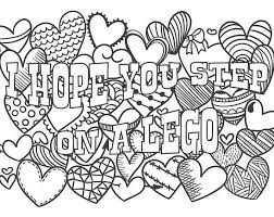 This Is A Digital Swear Insult Coloring Page Calming Effect Achieved By Examining