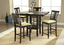 Bar Height Dining Set Room Table With Bench Black Kitchen