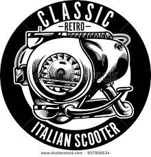 Classic Retro And Vintage Scooter Engine