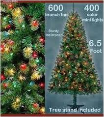 Artificial Fir Christmas Tree Amazing Gorgeous Pre Lit 4 Purple Tinsel Clear Contemporary