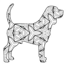 Realistic Dog Coloring Pages Beagle Sheets