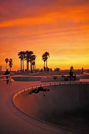 California Skater VeniceBeach Beach Sunset