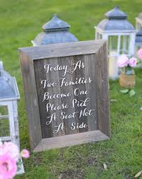 Rustic Wedding Sign No Seating Plan Old Barn Wood NEW 2014 Design By Morgann Hill Designs