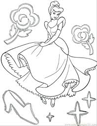 Cinderella Coloring Pages Pdf Page Free