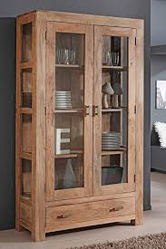 vitrine bihar 100x175x40 cm akazie massiv glasvitrine