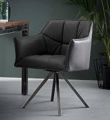 2er set stuhl raster mit armlehnen drehbar schwarz