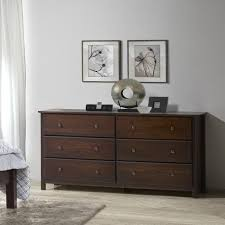 shaker 6 drawer dresser grain wood furniture
