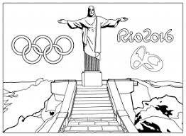 Coloring Adult Rio 2016 Olympic Games Christ The Redeemer Statue