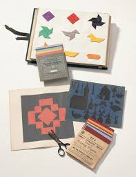 1875 Eighteenth Gift Papers For Folding Milton Bradley Company Springfield Mass 1920 J Hemmelmanns Paper Cutting Album Germany Ca