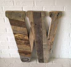 Large Wood Letter W Modern Wall Art Rustic By ConversationBits On Etsy