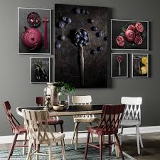 nordic poster wand kunst leinwand hd druck heidelbeere aubergine kürbis malerei modulare bilder esszimmer lebensmittel küche dekoration