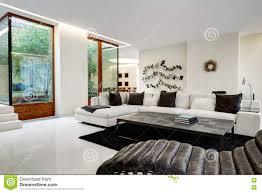 großes und bequemes wohnzimmer mit einem weißen sofa