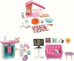 auswahl mattel möbel hundehütte küche wohnzimmer puppenmöbel ebay