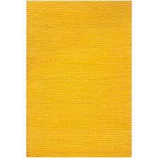 Hand Woven Yellow Vinci New Zealand Wool Soft Braided Texture Rug 8 X Modern Home