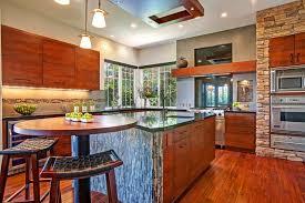 Asian Zen Kitchen Has Beautiful Hardwood Floor