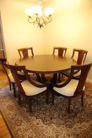 Image Is Loading High End Round Dining Room Set W 6