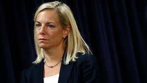 Homeland Security Secretary Kirstjen Nielsen fights off