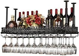 hängendes weinregal weinglashalter umgekehrt stemware rack bar deckenweinregal weinglashalter metall montiert bronze länge 150cm breite 35cm zum