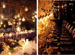 Delicate Wedding Ambiance Warm Light Winter Hanging