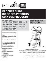 Patio Bistro Gas Grill Manual by Char Broil Patio Bistro Infrared 240 Square Inch Electric Grill